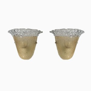 Mid-Century Murano Glass Sconces from Vistosi, Set of 2
