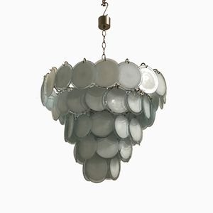 Large Mid-Century Murano Disc Chandelier from Vistosi