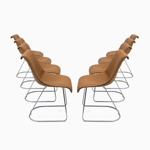 Talus Chairs by Vittorio Introini for Saporiti, 1970s, Set of 8