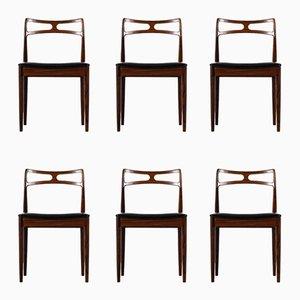 Chaises de Salle à Manger Modèle 94 Vintage par Johannes Andersen pour Chr. Linnebergs Møbelfabrik, 1960s, Set de 6