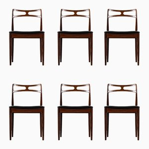 Model 94 Dining Chairs by Johannes Andersen for Chr. Linnebergs, 1960s, Set of 6