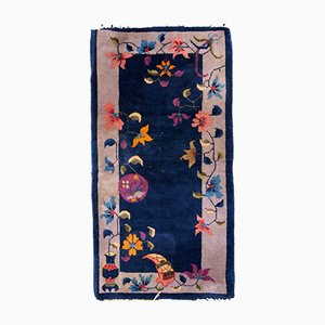 Antique Chinese Handmade Art Deco Rug, 1920s