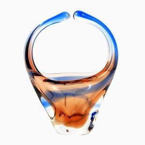 Niagara Glasschale von Karel Zemek Mstisov für Moser Karlovarske Sklo, 1960er