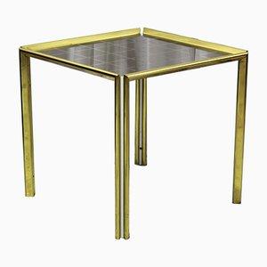 Mesa de centro vintage dorada, años 70