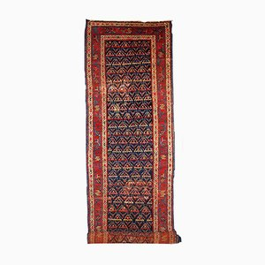 Tapis de Couloir Artisanal Antique Kurde, 1900s