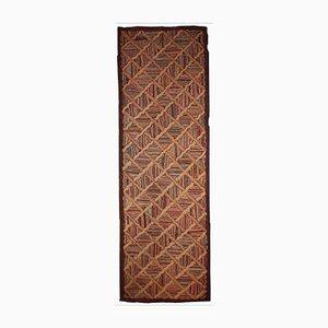 Alfombra americana antigua tejida a mano, década de 1880