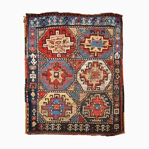 Antique Handmade Kurdish Rug, 1870s