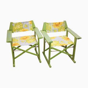 Italian Director Chairs from Fratelli Reguitti, 1970s, Set of 2