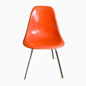 Sedia DSX arancione di Charles & Ray Eames per Herman Miller, anni '60