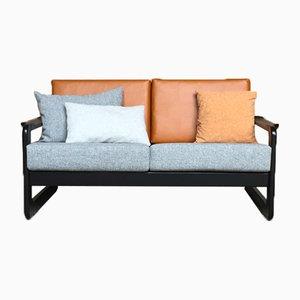 Vintage Leatherette Sofa