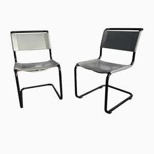 Vintage Model S33 Chairs by Mart Stam for Thonet, Set of 2