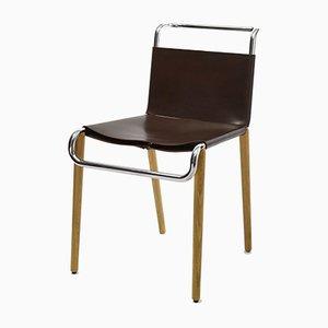 Chaise AXA en Cuir par Rudolf Netik pour SLEZAK Factories