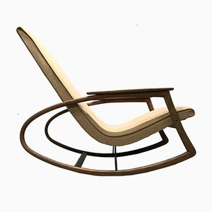 Vintage Czech Rocking Chair from Thonet
