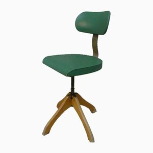 Vintage Green Polstergleich Swivel Chair by Margarete Klöber