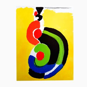 Composition Lithografie von Sonia Delaunay für Cahiers d'art, 1972