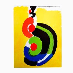 Lithographie Composition par Sonia Delaunay pour Cahiers d'art, 1972