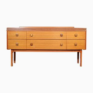 Mid-Century Teak & Walnut Dressing Table by Harry Lebus