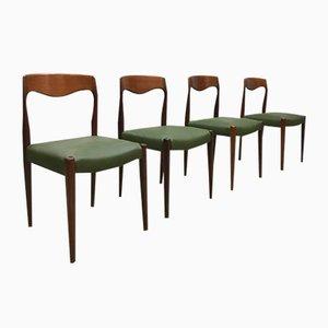 Sedie da pranzo vintage di N. O. Moller per J. L. Mollers, Danimarca, Set di 4