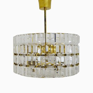 Crystal Glass Chandelier by Carl Fagerlund for Orrefors, 1960s