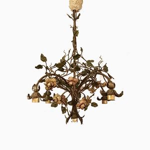 Vintage Patinated Iron Ceiling Lamp