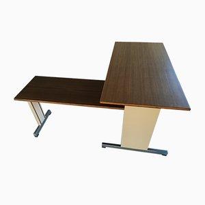 Schreibtisch aus Nussholz von Ettore Sottsass für Olivetti Synthesis, 1980er