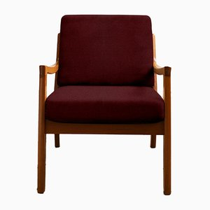 Customizable Mid-Century Teak Senator Armchair by Ole Wanscher for Poul Jeppesen