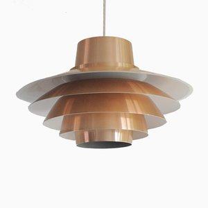 Lámpara colgante Verona de cobre de Sven Middelboe para Nordisk Solar, años 70