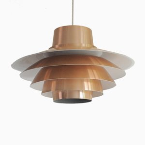 Verona Copper Pendant by Sven Middelboe for Nordisk Solar, 1970s