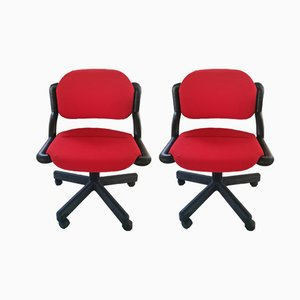 Flexa Chairs by Charles Pollock & W. Jaremko for Olivetti Synthesis, 1980s, Set of 2