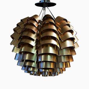 Lampe à Suspension Orion en Cuivre par Max Sauze, 1977