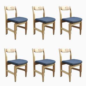 Chaises de Salle à Manger Lorraine par Guillerme et Chambron, Set de 6