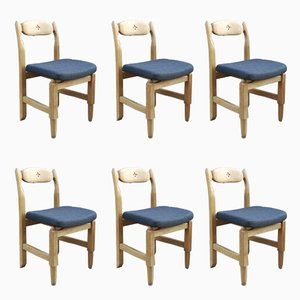 Lorraine Dining Chairs by Guillerme et Chambron, Set of 6