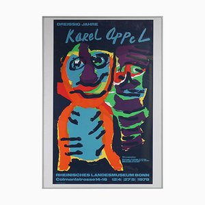 Paravent en Soie par Karel Appel, 1979