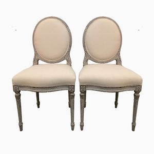 Antique Gustavian Chairs, 1880s, Set of 2