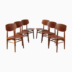Dining Chairs by Børge Mogensen for Søborg Møbelfabrik, 1950s, Set of 6