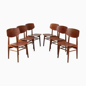 Sedie da pranzo di Børge Mogensen per Søborg Møbelfabrik, anni '50, set di 6