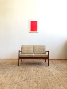 Mid-Century Teak Senator Sofa by Ole Wanscher for France & Søn, 1960s-Original Cover