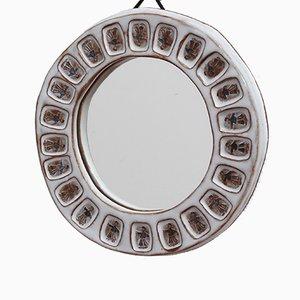 Specchio in ceramica, anni '70