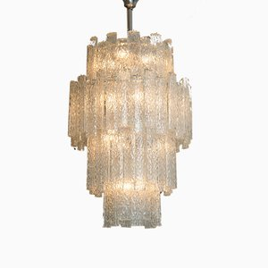 Crystal Glass Chandelier from Venini, 1960s