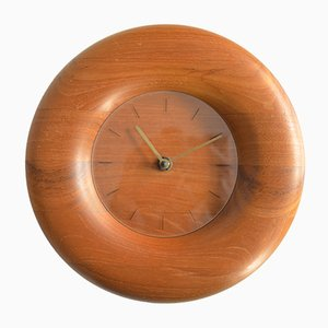 Teak Clock from Bestform, 1970s