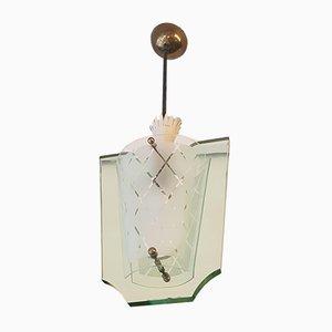 Lámpara colgante de Pietro Chiesa para Fontana Arte, años 50