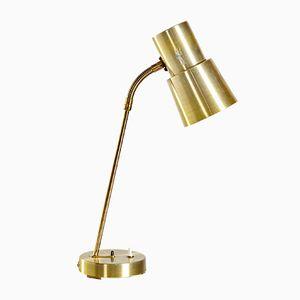 Lampe de Bureau Dorée par Ewå Värnamo pour Värnamo, Suède, 1960s
