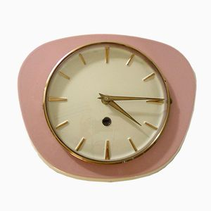 Pink Earthenware Wall Clock, 1950s