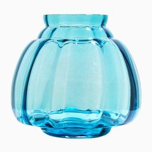 Copier Revisited Vase in Aqua 20 by A.D. Copier for Royal Leerdam Crystal