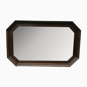 Vintage Wooden Octagonal Wall Mirror