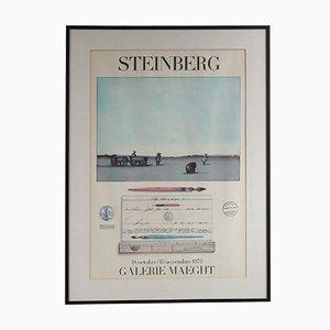 Litografia della mostra Steinberg di Mourlot, 1973