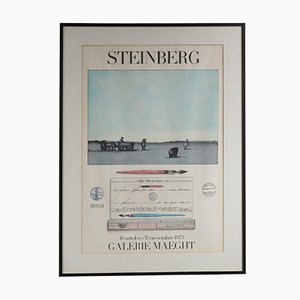 Litografía Steinberg de Mourlot, 1973