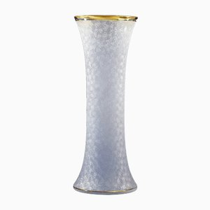 French Glass and Gold Vase, 1960s