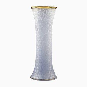 Jarrón francés de vidrio y pan de oro, años 60