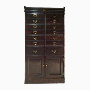 Antique Oak Haberdashery Cabinet